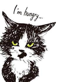 ธีมไลน์ Hungry cat mush