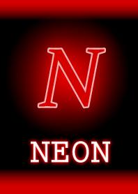 ธีมไลน์ N-Neon Red-Initial