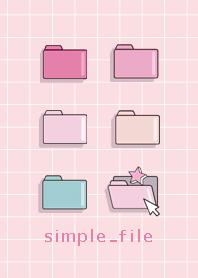 ธีมไลน์ simple_file_pink