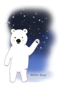 ธีมไลน์ white bear 2019