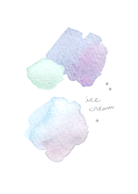 ธีมไลน์ ice cream. Watercolor theme