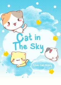 ธีมไลน์ แมวในท้องฟ้า