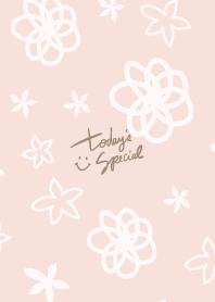 ธีมไลน์ A white flower dances Pink2 from Japan