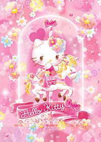 ธีมไลน์ เฮลโลคิตตี สวนดอกไม้สีชมพู