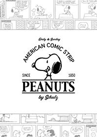 ธีมไลน์ Snoopy Comic Strips (ขาว)