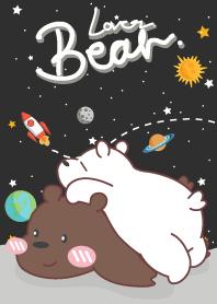ธีมไลน์ หมีน้อยขี้เซา กาเเล็กซี่