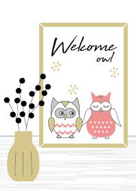 ธีมไลน์ Welcome! Owl