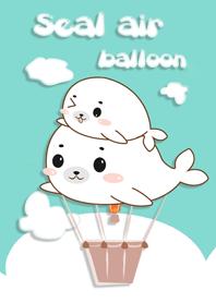 ธีมไลน์ บอลลูนแมวน้ำ ล่องลอย อุ๋ง อุ๋ง