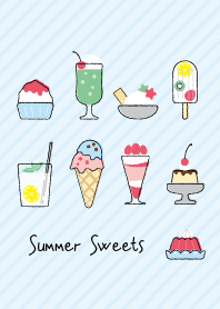 ธีมไลน์ Summer Sweets and Desserts Theme