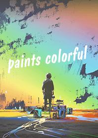 ธีมไลน์ paints colorful