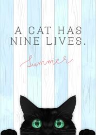 ธีมไลน์ BLACK CAT -summer- #cool