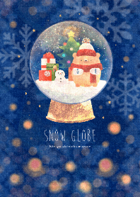 ธีมไลน์ Sunday bear -snow globe-