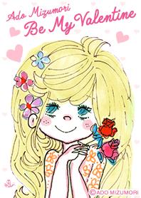 ธีมไลน์ ADO MIZUMORI -Be My Valentine-