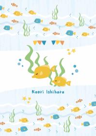 ธีมไลน์ ทะเลหลากสี (Kaori Ishihara)