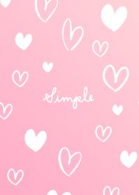 ธีมไลน์ Simple Much heart pink25