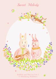 ธีมไลน์ Sweet Melody - Rabbits and The Cat Vol.5