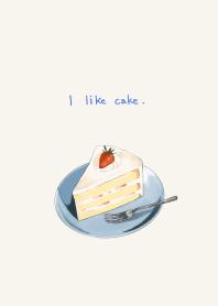 ธีมไลน์ I like cake.