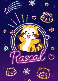 ธีมไลน์ Rascal☆ลายเส้นนีออน
