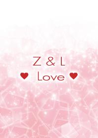 Z & L Love Crystal Initial theme