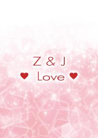 Z & J Love Crystal Initial theme