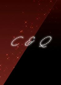 C & Q cool red & black initial