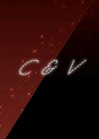 C & V cool red & black initial