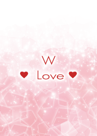 W Love Crystal Initial theme