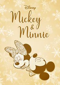 มิกกี้ & มินนี่ สีทองกลิตเตอร์